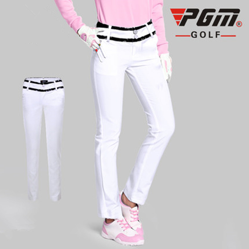 PGM golf Full Length Spandex Women Zipper Fly Broadcloth KUZ039 sports golf pants women ladys