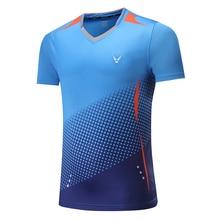 Новинка, быстросохнущая футболка для бадминтона, Спортивная футболка, теннисные футболки, теннисная футболка для мужчин/женщин, футболка для настольного тенниса 3860AB