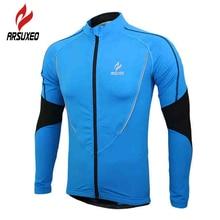 цена на ARSUXEO Autumn Winter Warm Up Fleece Cycling Jacket MTB Bike Bicycle Jerseys Men Sports Long Sleeve Thermal Wind Coat Clothing
