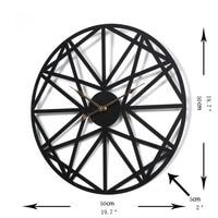 Creative Retro Circular Wall Clock Black Round Metal Retro Chic Household Star Pattern Iron Hanging Clocks Roman Numerals C5T132