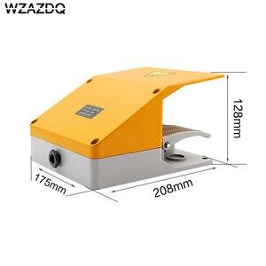 Image 2 - WZAZDQ Ayak anahtarı YDT1 15 alüminyum kabuk gri çift pedal anahtarı makinesi aracı aksesuarları anahtarı
