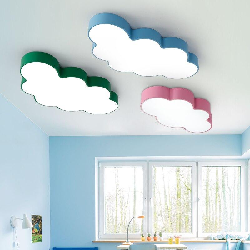 Kreslený kreativní pohádka krásné mraky design 3 barvy železo akrylové led stropní světlo pro děti dětský pokoj ložnice