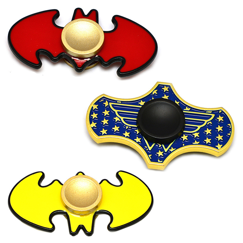 EDC Toys Marvel Triangular Hand Spinner Spider Man Batman Metal Spinner The Avengers Tri Fidget Spinner