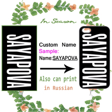 Custom Name Personalized Cover for iPhone 4S 5 5S SE 5C 6 6S Plus Samsung Galaxy