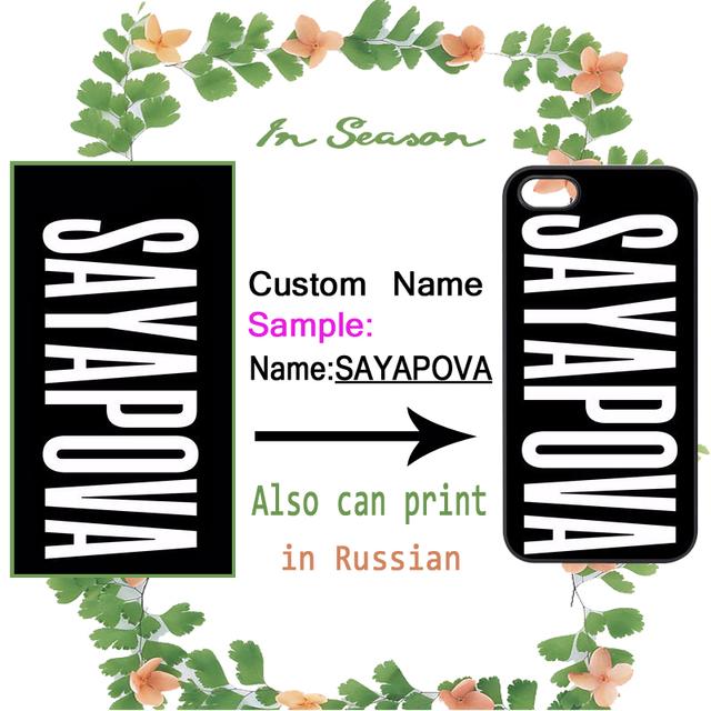 Personalizado DIY Nome Personalizar para o iphone 4 4S 5 5S 5C SE 6 6 S 7 Plus Samsung Galaxy S3 S4 S5 S6 S7 S8 Mais Borda A3 A5 A7