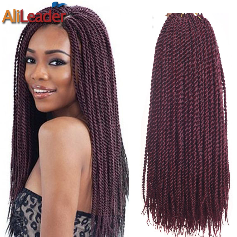 14 Inch Crochet Box Braids : 18 Inch Senegalese Twist Braid Crochet Hair Box Braids Micro Braid ...