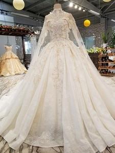Image 4 - LS54799 ยาว Cape งานแต่งงานชุดสร้อยคอ off ไหล่ sweetheart HOT ขายเจ้าสาวชุดแต่งงาน vestido de noiva blato Baro