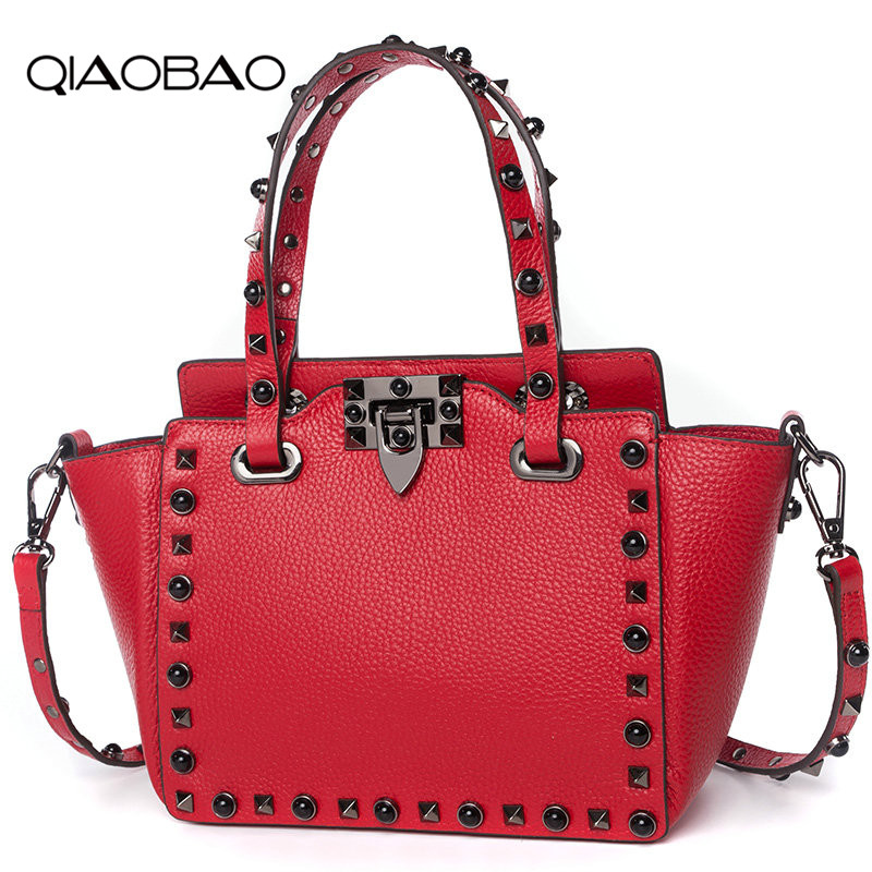QIAOBAO New listing female bag 2018 Europe and the United States fashion Cowhide Leather bucket dumplings handbag Lady Hobos europe and the united states fashion new leather selling smiley face smiling double locomotive double zipper bag leather handbag