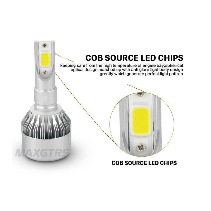 2x H1 H3 H7 H8 H11 9005 9006 HB4 HB3 881 COB Led 72W Daytime Running Lights DRL Headlight Conversion Driving Bulb 6000K 3000K