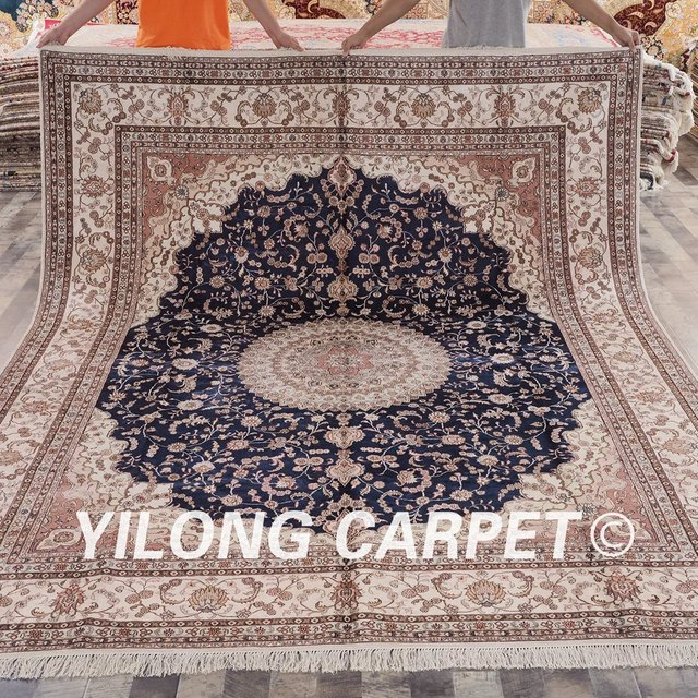 Yilong 8 X10 Clical Persian Design Silk Rug Beautiful Handicraft Oriental Carpets Online