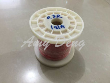 1 kg /lot  0.3mm red polyurethane (QA) paint coated wire straight welding type