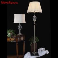 LED Floor lamp crystal floor Modern Standing Lamp For Living Room White Bedside Reading Lights Gray Stand Lighting floor lights