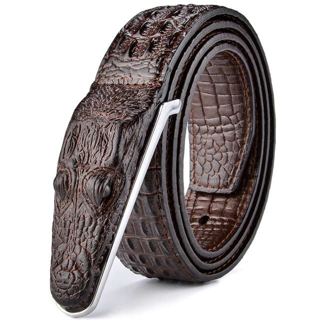 Crocodile Style High Quality Leather Belt