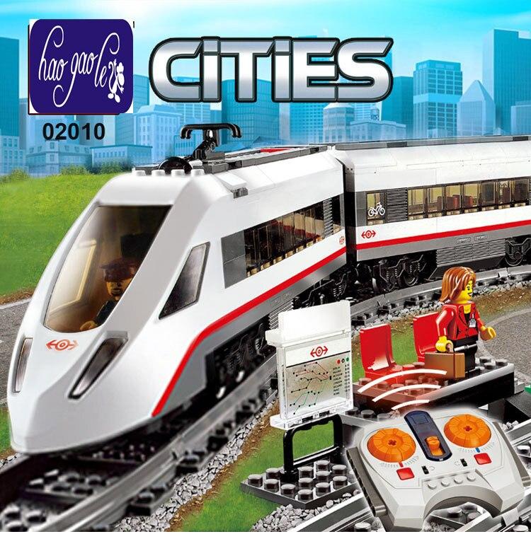 02010 610Pcs Creator Series The High-speed Passenger Train Building Remote-control Trucks Set Blocks Bricks Toys 60051