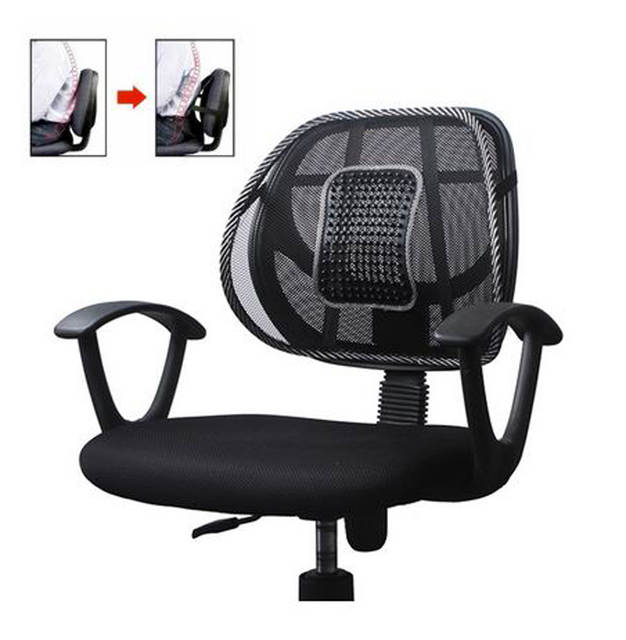 Us 7 36 15 Off Office Chair Seat Covers Mesh Massage Seat Back Support Car Seat Pad Chair Cushion Lumbar Support Cushion Lumbar Pillow In Seat