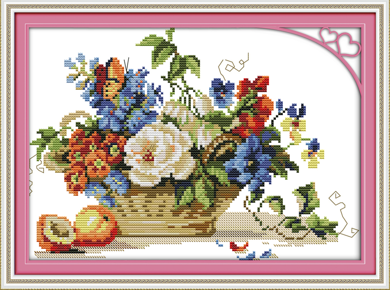 DIY Counted Cross Stitch Kits for Beginners-Polar Bear,Adult Crosstitch Embroidery Kit for Home Wall Decor,11CT