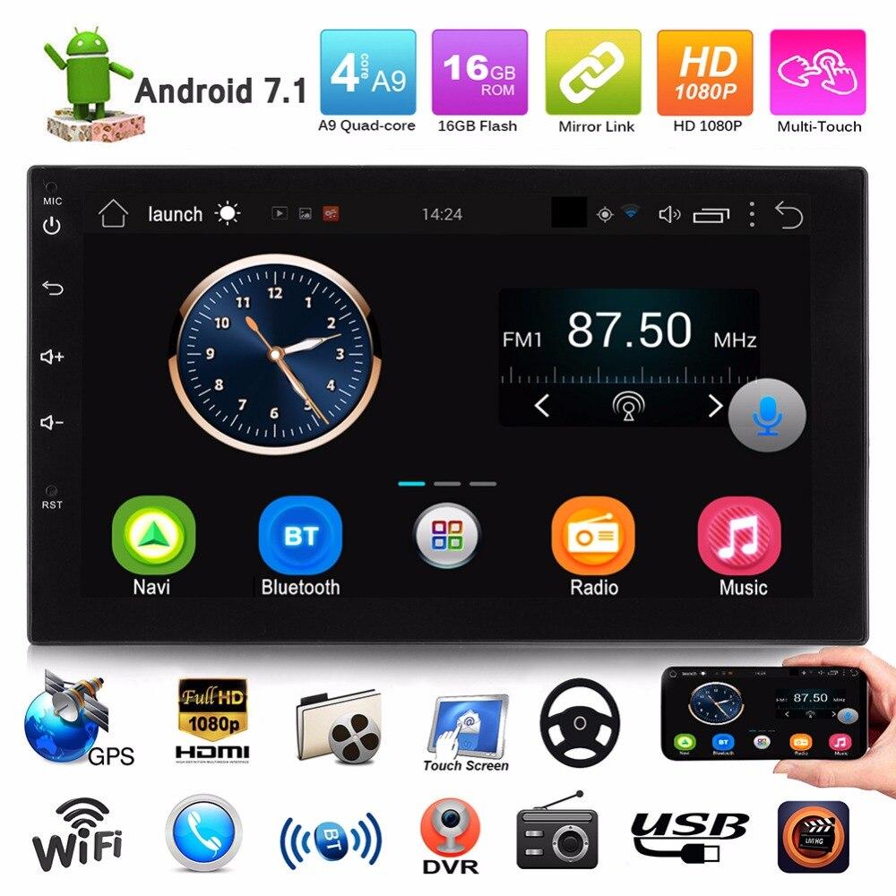 2 Din 7 Voiture Multimédia Lecteur Universel Bluetooth Android 7.1 Tactile Écran MP5 Lecteur Autoradio USB FM Radio De Voiture media Player