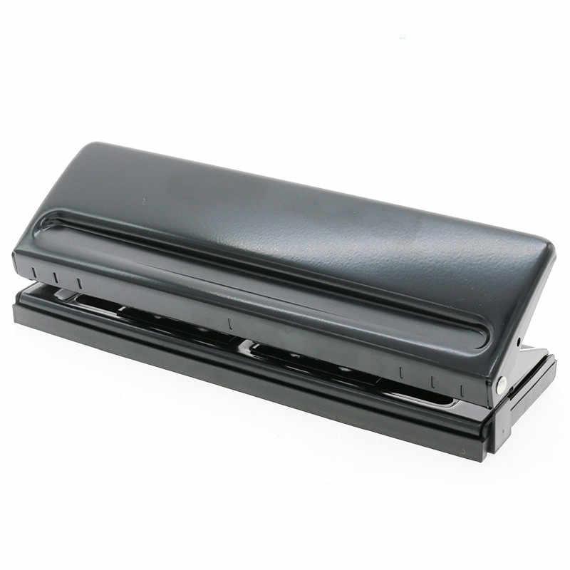 Perforateur de papier 6 trous, perforateur de bureau réglable en acier inoxydable, capacités 6 feuilles