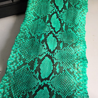 Genuine Glossy Original Green Black Python Snake Skin for DIY Handmade Wallet Handbag Snake Leather Thickness 2000x160x0.4mm