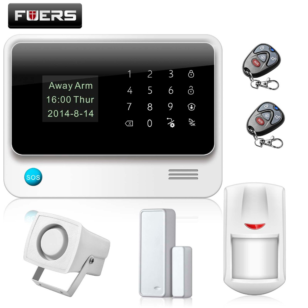 Fuers Russian/English WiFi GSM Home Alarm System Security Phone Apps Control Russian Alarm with IP Camera WIFI GSM Alarm System russian phrase book