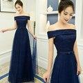 Elegante vermelho azul royal lace up vestidos de noite longo 2016 prom party dress robe de soiree longue a029
