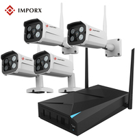 P2P Plug Play 4 Channel IP Camera Wifi Wireless Kit System CCTV 4CH 1080P NVR WIFI