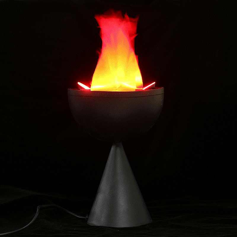 f46609413fa Decoraciones de Halloween Props simulación electrónica Brasier fuego falso  llama LED luz falso fuego accesorios falso