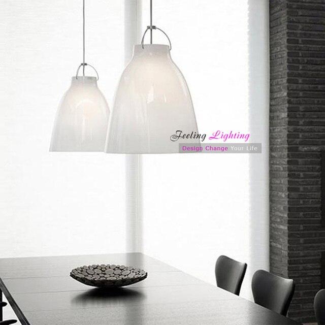 Modern Caravaggio Pendant Lamp Aluminum Paint Black or White ...