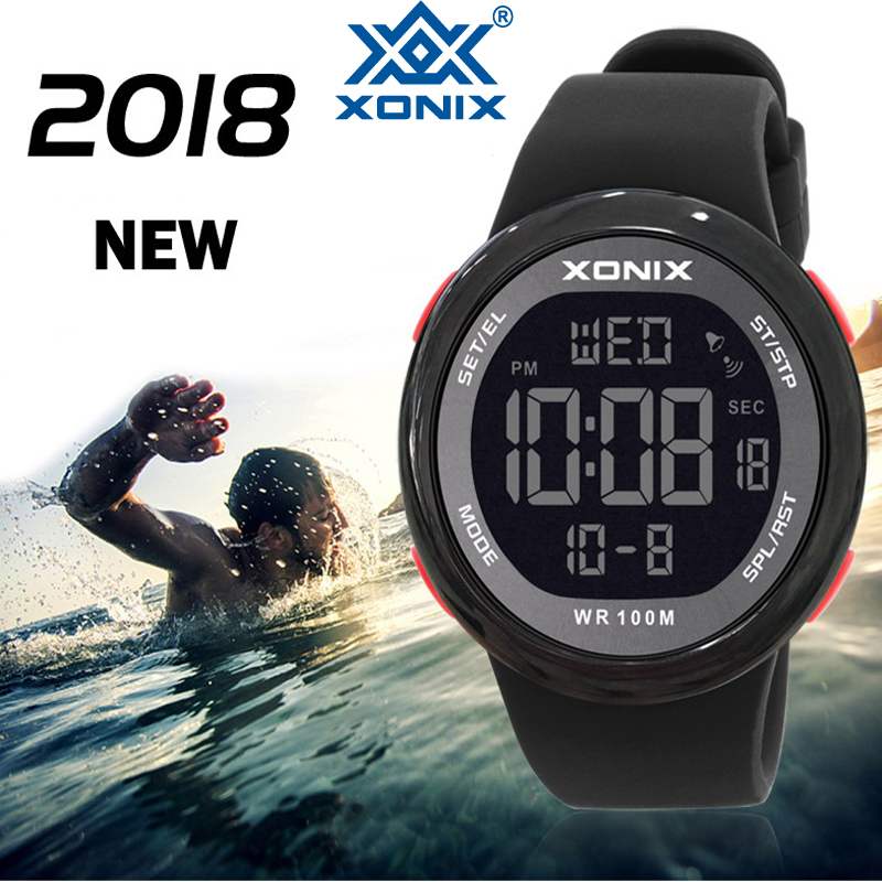 2018 Sport Watche Luxury Men Relogio Masculino LED Digital Diving Swimming Reloj Hombre Hardlex Mirror Sumergible Wristwatch NY 1