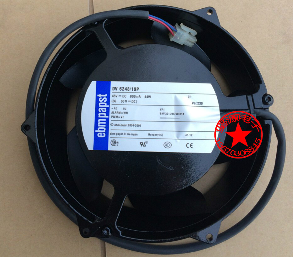 New original ebmpapst DV6248 / 19P DC 48V 900mA 44W four-wire PWM 170 * 170* 50mm cooling fan new original bp31 00052a b6025l12d1 three wire projector fan