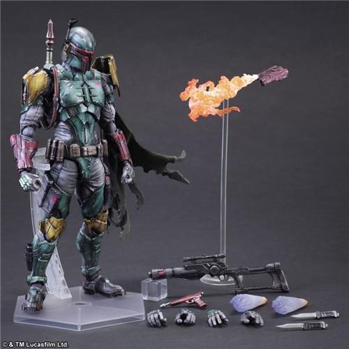 ФОТО 16pcs/carton PA star wars removable Boba Fett action pvc figure toy tall 27cm in box via EMS.