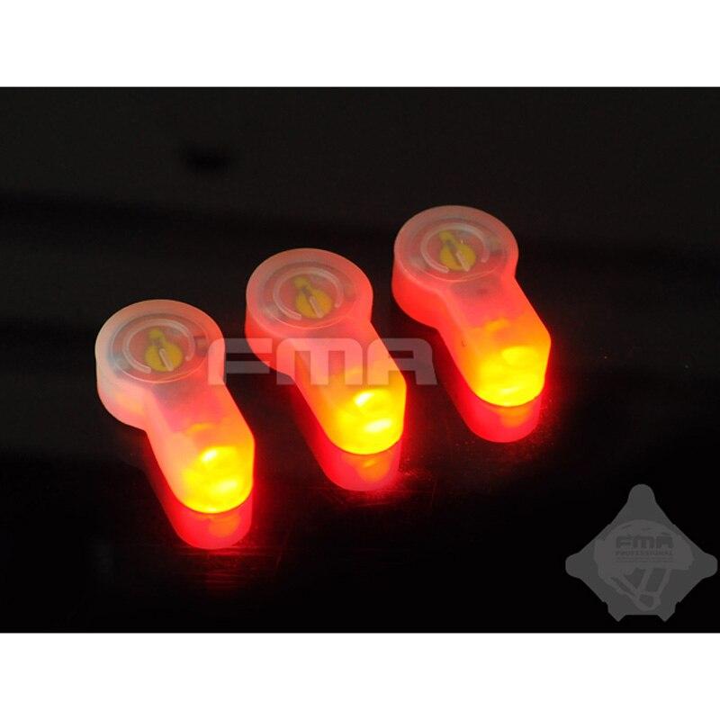 3 шт., FMA S-LITE, стробоскопический свет для выживания, термостабильность, низкая температура, водонепроницаемый, 3 комбинации, жилет, Молл, шлем