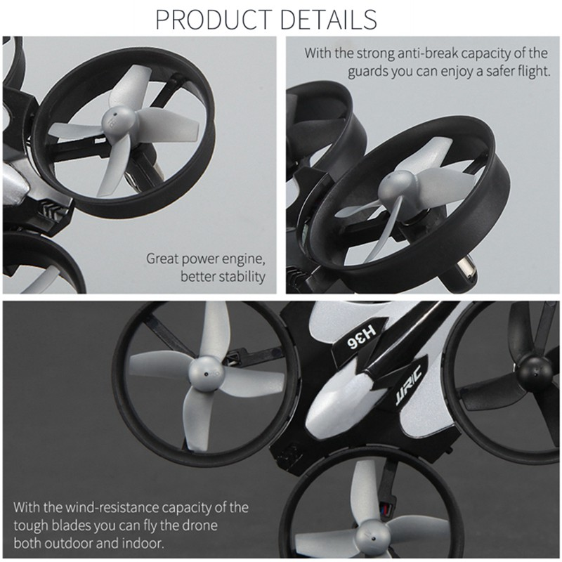 3 Batteries Mini Drone Rc Quadcopter Fly Helicopter Blade Inductrix Drons Quadrocopter Toys For Children Jjrc H36 Dron Copter 2