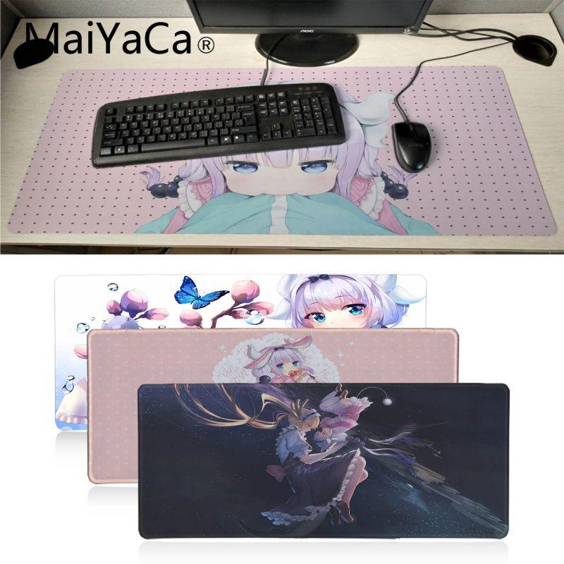 MaiYaCa Miss Kobayashi's Dragon Maid Kanna Kamui Cute Girls Mouse Pad Gamer Play Mats Mousepad Anime Keyboard Mat Table Pad