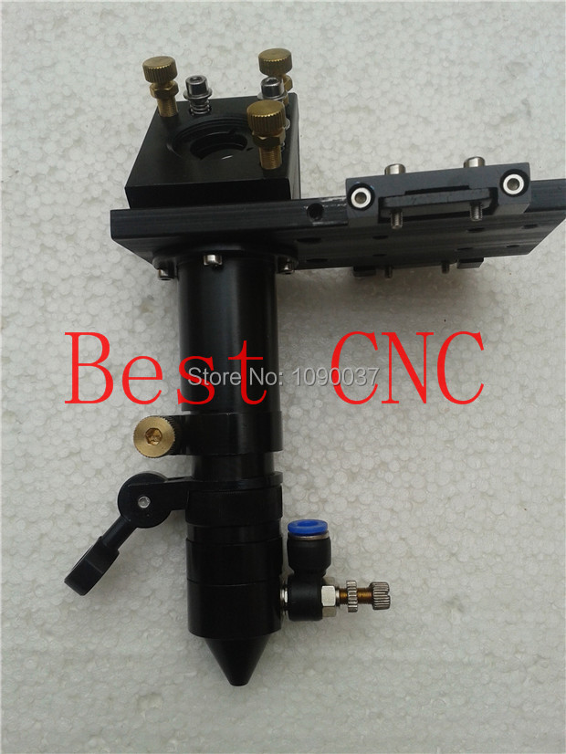 Free Shipping High Quality CO2 Laser Cutter Laser Head with nozzle new type co2 laser head