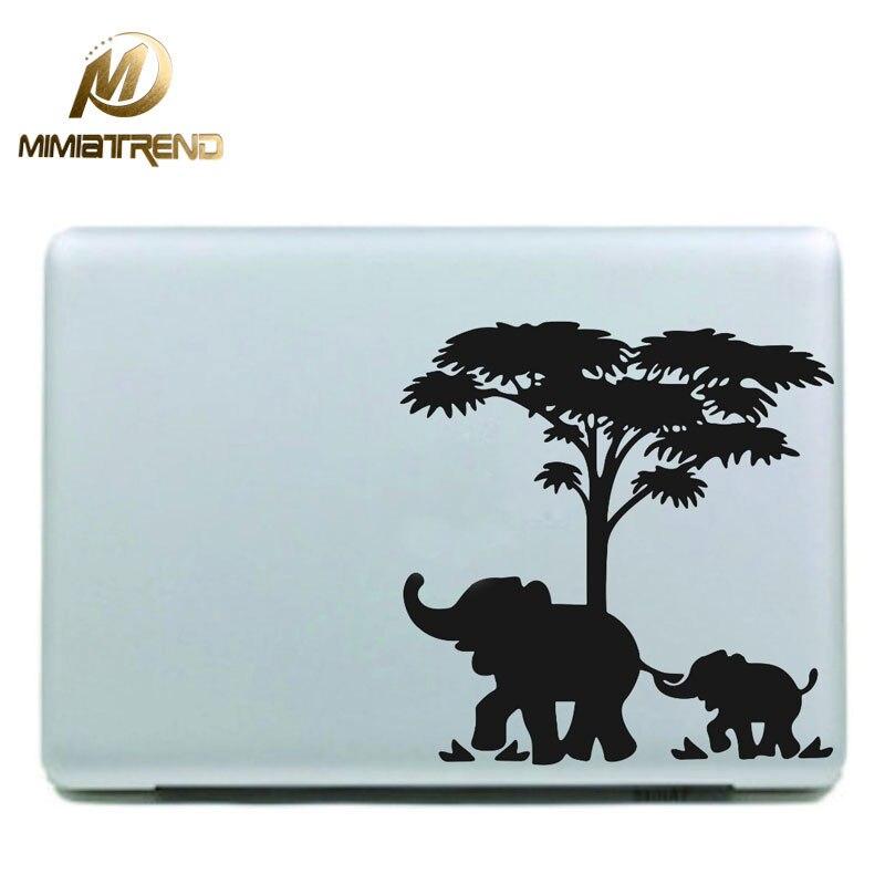 Mimiatrend African Elephants Vinyl Decal Sticker for Apple Macbook Pro Air Retina 11 13 15 Inch Laptop Case Cover Sticker