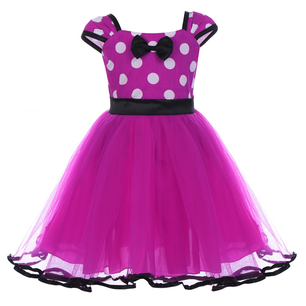 Swell Toddler Kids Girls Minnie Dress Baby Birthday Cake Smash Polka Dot Funny Birthday Cards Online Barepcheapnameinfo