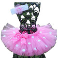 Пушистый 3 слоя Детские Девушки Юбки Розовый Детский Танец юбка Балета Радуга Тюль Юбки для Празднования Дня Рождения Ребенка Pettiskirt