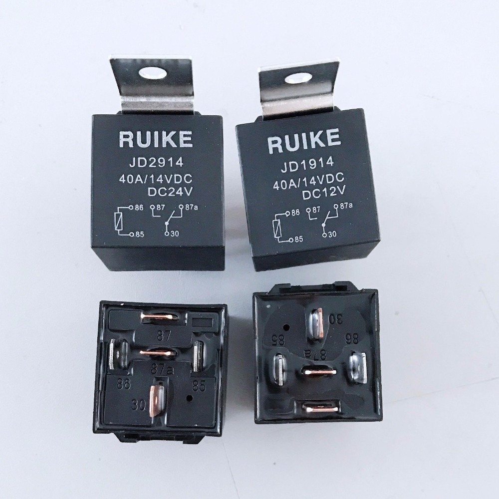 10pcs Auto Car Relay DC 12/24 Volts 40A 1NO+1NC SPDT 5 Pin 5 pcs 1no 1nc spdt ceramic socket 5 pin connecting car relay dc 12v 40 amp
