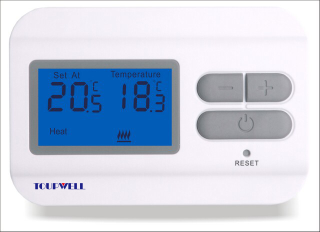 TP23 Wired digital room thermostat for water heating system, Gas boiler heating system gas boiler thermostat wall hung boiler heating thermostat programmable gas boiler thermostat for room 3a