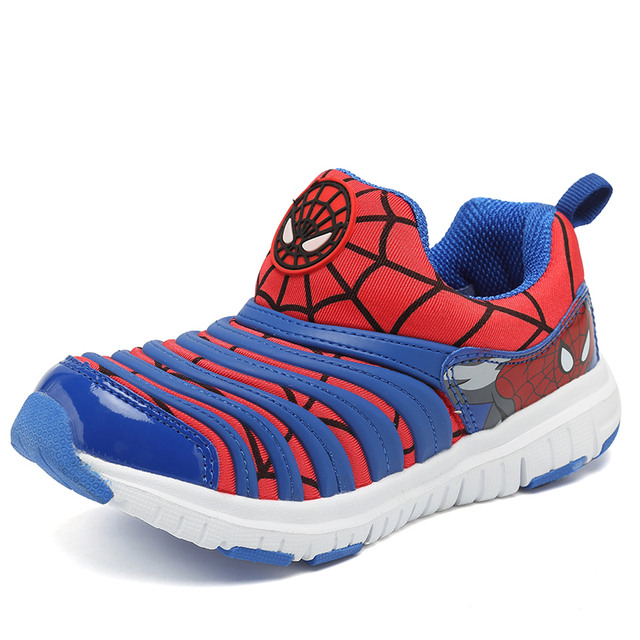 2019 Spring Spiderman Children Shoes For Boys Sneakers Girls Sport Child Casual Light Breathable Baby Boys Flats Kids Shoes 2