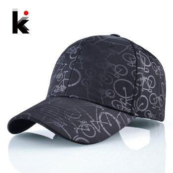 New Baseball Hat For Men Fashion Print Bicycle Snapback Cap Women Unisex Vintage Outdoor Sport Dad Hats Summer Visor Bone 1