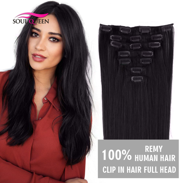 Clip In Hair Extension 100grams Natural Human Hair Thick Clip In
