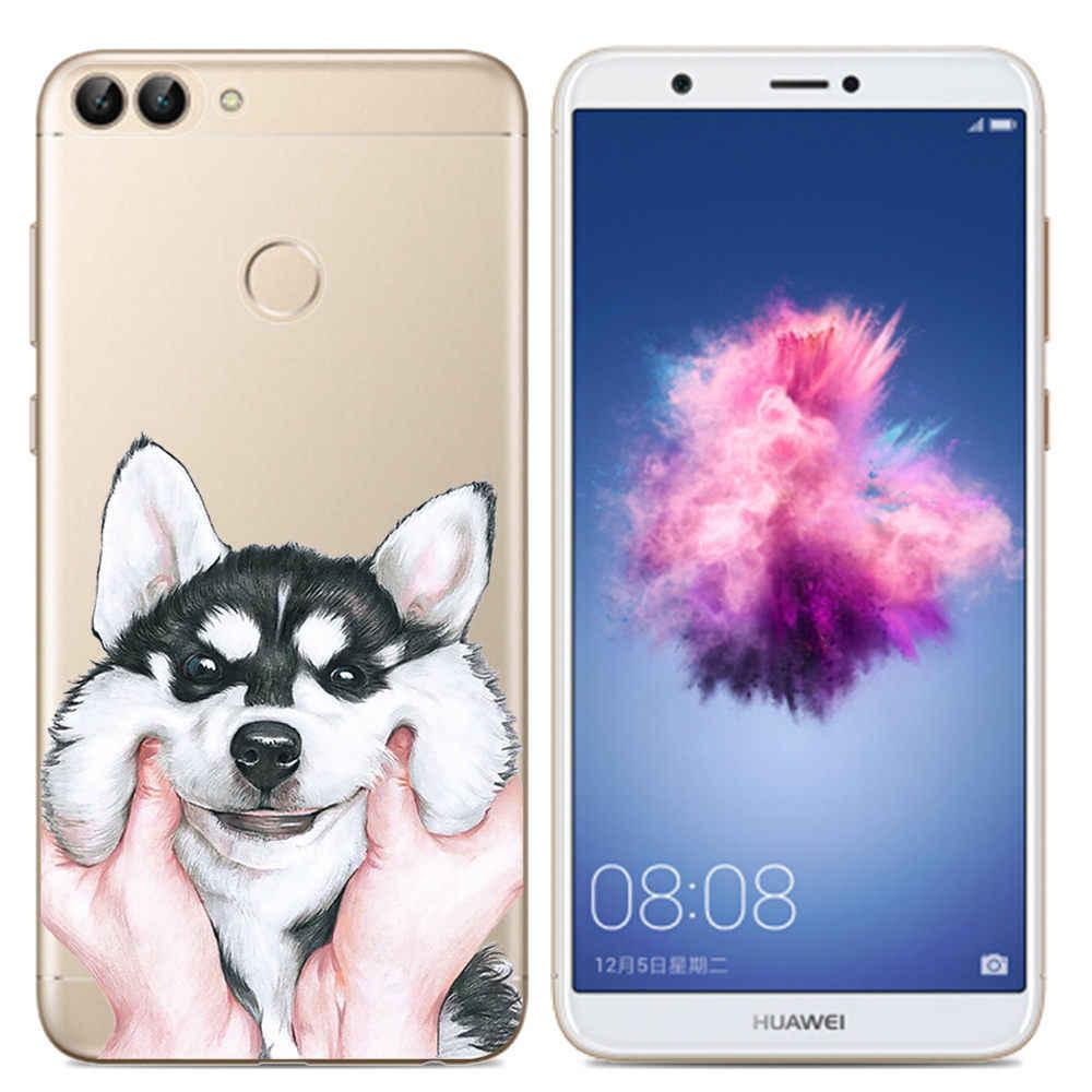 Для Coque huawei P Smart 2018 чехол, Мягкий ТПУ силиконовый чехол, мультяшный чехол для телефона, для huawei P Smart Plus Funda PSmart Plus INE-LX1