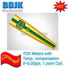 0~5.00ppt Digital TDS Meters with Temp. Display Handheld TDS Tester Gift Box
