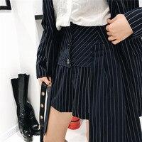 2018 primavera Sexy mulheres coreanas listrado mini saia lápis feminino Plissado cintura alta saias das mulheres de fundo Do Vintage mini saia de tule