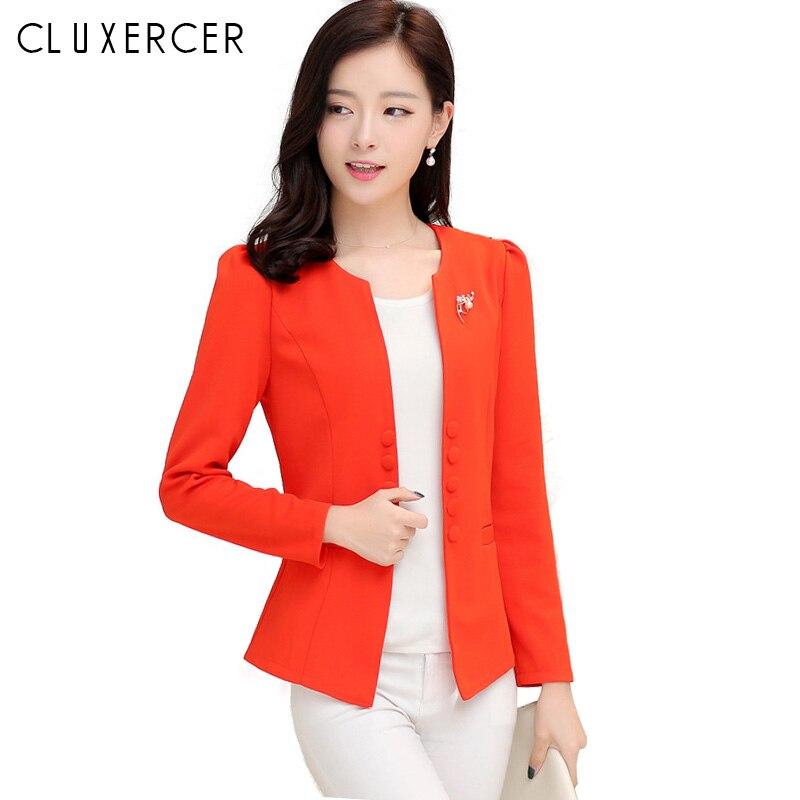 2019 Spring Blazer Feminino Stand Neck Design Blue Korean Print Slim Women Office Work Suit Female Jackets Plus Size 3xl Blazers Back To Search Resultswomen's Clothing