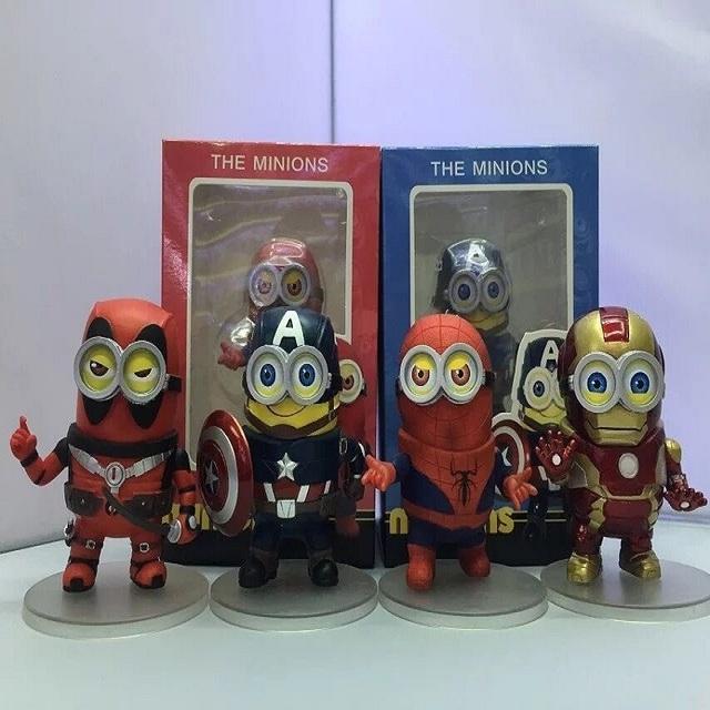Minion Avengers Action Figures 4 Piece Set