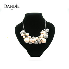 Dandie Fashionable Acrylic Beaded Necklace, Statement Chocker Necklace