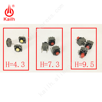 Kailh Micro Switch 6*6*4.3/7.3/9.5mm Silent switch ireless mouse wired mouse DIP microswitch Tact Switch